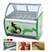 Wholesale Transparent Ice Cream Retail Glass Display Cabinets For Hotel / Restaurants from china suppliers