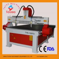 Wholesale wood carving machine with one head two spindles,Mach 3 system, PMI square linear rail TYE-1325T2 from china suppliers