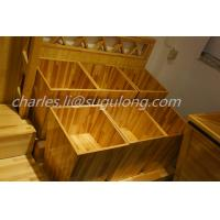 Wholesale Fruit And Veg Display Units Wooden Craft Stand For Supermarket / Grocery Store from china suppliers