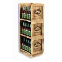 Wholesale MDF Drink or Floor Wine Rack , Retail POS wooden wine shelf 100% recyclable from china suppliers