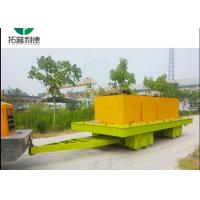Buy cheap 120 t forklift towing rubber wheel steerable transfer trolley for workshop handling from wholesalers