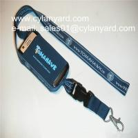 Wholesale Spandex phone pocket neck lanyards, stretchable mobile phone holder neck ribbon from china suppliers