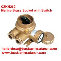 Wholesale 10A/16A marine 3 pin double socket and rotating switch for boat CZKH209 IP56 from china suppliers