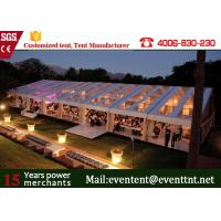 Wholesale Strong Frame Heavy Duty Tents For Camping , Clear Roof Wedding Tent With 200 Person Seat from china suppliers