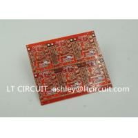 Wholesale 3'' U Gold Plating Multilayer PCB FR4 Printed Circuit Board Red Solder Mask from china suppliers