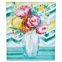 "Wholesale Colorful Floral Wall Deco Hand Painted Canvas , 23"" x 19"" Hand Painted Wall Art Canvas from china suppliers"