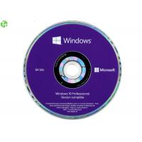Quality Windows 10 COA License Sticker Windows 10 Pro OEM With Genuine Purple DVD + Key License for sale