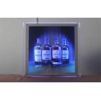Wholesale Bright Silver LED Dynamic Light Box A5 ,Hang Flashing Advertising Board from china suppliers