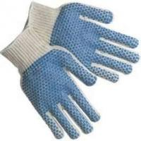 Wholesale Durable raw white polyester PVC dotted oneside String Knitting gloves hands protection from china suppliers