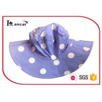 Quality Cotton Flower  Printed Bucket Hat With Circle Lining  for girls for sale