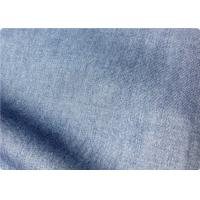 Wholesale Light Blue Lightweight Denim Fabric By The Yard For Trousers / Bedding from china suppliers