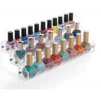 Wholesale Custom Clear Acrylic Nail Polish Floor Standing Rack Display from china suppliers