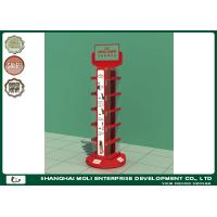 Buy cheap Red Wire Floor Retail Display Racks Double Side Shops Acrylic Logo Board from wholesalers