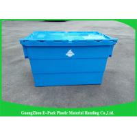 Wholesale Packaging Distribution Totes With Hinged Lid , Logistic Big Plastic Containers from china suppliers