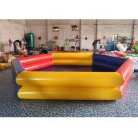 Wholesale Yellow / Red Portable Rectangular Large PVC Inflatable Water Pool For Outdoor / Indoor from china suppliers