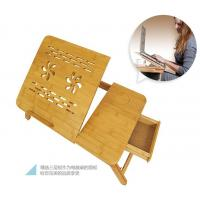 Wholesale adjustable bamboo laptop table bamboo laptop tray bamboo laptop desk from china suppliers