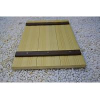 Wholesale Indoor WPC Composite Wall Cladding , Composite Wood Wall Covering Yellow from china suppliers