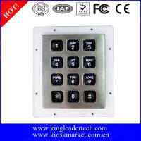 Wholesale Custom Industrial Numeric Keypad , 12 Plastic Keys Metal Keypad With Backlight from china suppliers