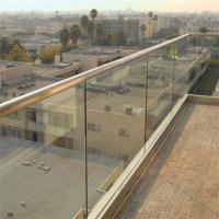 Wholesale Exterior decking Aluminum frameless balustrade channel With Tempered Glass from china suppliers