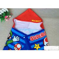 Wholesale Plain Style Poncho Swimming Towels , Childrens Hooded Beach Towels Various Size from china suppliers