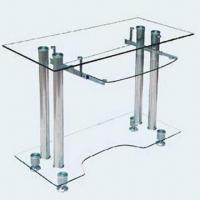 Wholesale Computer Desk with 7mm Top Toughened Glass, 5mm Other Glass and Stainless Steel Material from china suppliers