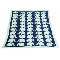 Wholesale Elephant Pattern Knitted Knitted Wool Blanket For Home Decoration from china suppliers