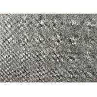 Wholesale 450G/M Grey Tweed Upholstery Fabric Soft Small Dot For Uniforms High Grade from china suppliers
