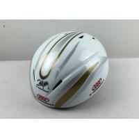 Wholesale Strong Children Speed Ice Skating Helmet White Stripe Light Weight Two Sizes from china suppliers