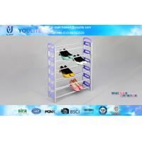 Wholesale Six Layers Violet Retractable Shoe Organizer Racks / Knock-down Balcony Stand Shoe Shelf from china suppliers
