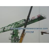 Wholesale 10tons Flat Top Tower Crane QTP6518 65m Jib 3m Four Slice Mast Section from china suppliers