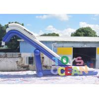 Wholesale Blue And White PVC Inflatable floating Water Yacht Slide For Boat And Adult from china suppliers