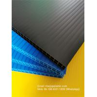 China 8mm and 10mm thick black/ blue/ green colors double layer PP corrugated plastic sheet for divider backing plate for sale