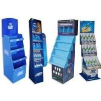 Wholesale Blue Flooring Cardboard Display Racks , Cardboard Display Shelves Attractive Design from china suppliers