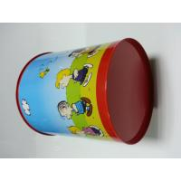 Wholesale Tinplate Metal Tin Bucket , Printed Colorful Trash Can Container from china suppliers