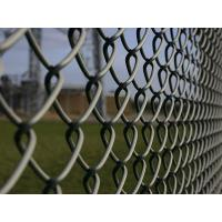 Buy cheap PVC Coated Chain Link Fence Fabric Screen With Round Post / Firm Structure from wholesalers