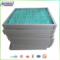 Wholesale HVAC System Media Air Filter Fiberglass Fiber Pleated Panel 5um from china suppliers