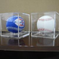 Wholesale Acrylic Clear Baseball  Display Case Single Plexiglass Cube Holder Box for Small Ball from china suppliers