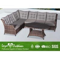 Wholesale Wicker Patio Furniture Patio Seating Sets Wth Round / Half Round Rattan from china suppliers