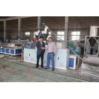 Wholesale Conical Twin Screw Plastic Profile Extrusion Line , WPC Extrusion Machine from china suppliers