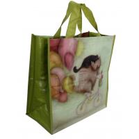 Buy cheap PP Woven Reusable Carrier Bags Both Sides Shining Coats , eco friendly from wholesalers