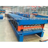 Quality 28mm Trapezoidal Shaped Roof Sheet Roll Forming Machine With Double Motor Control for sale