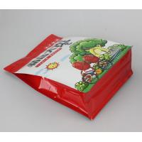 Flexo Printing Flat Bottom Side Pouch Bag With Zipper And Gusset