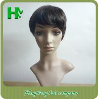 Wholesale African American Natural Human Hair Wigs Natural Looking 10 Inch from china suppliers