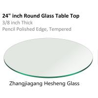 Wholesale 10MM round clear  tempered glass as  table top from china suppliers