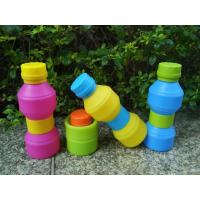 Wholesale Travel Durable Reusable With Leak -  proof Lid Foldable Silicone Drinking Bottle from china suppliers