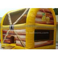 Quality Fireproof PVC Tarpaulin 6M Inflatable Treasure Box Bouncer With Columns Inside for sale