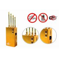 Quality 2017 Hot Sales for Powerful Golden Portable Cell phone  Wi-Fi  GPS Jammer for sale