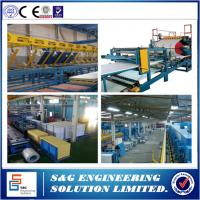 Quality 22KW Corrugated Roofing Sheet Making Machine , 12 Stations Rock Wool Sandwich Panel Machine for sale