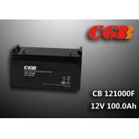 Wholesale CB121000F 12V 100Ah Valve Regulated Lead Acid Battery , Wind Supply Energy Storage AGM Battery from china suppliers
