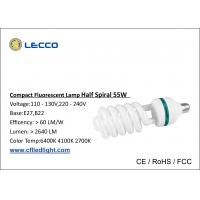 Wholesale 55W T5 Half Spiral Energy Saving Lamp 60 LM / W For Warehouse 6400K High Lumen from china suppliers